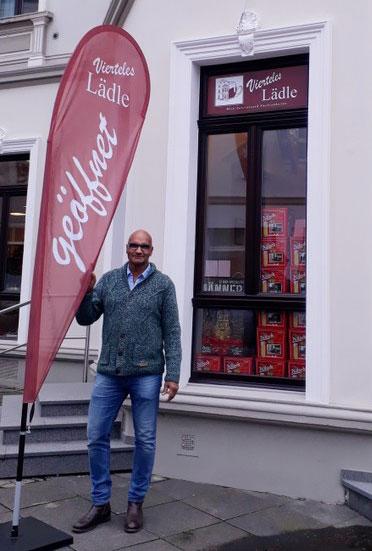 Eingang Vierteles Lädle in Bonn