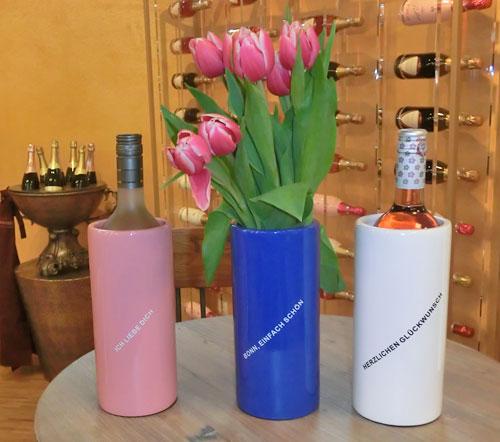 Wahlweise als Weinkühler oder Blumenvase